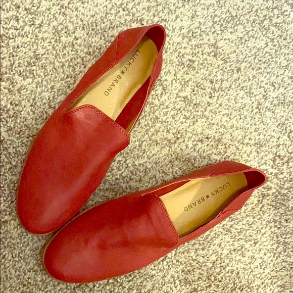 Lucky Brand Shoes - Lucky Brand leather red loafers